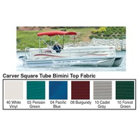 "4 BOW SQUARE TUBE PONTOON TOP FABRIC FOR 48""H FRAME, SUNBRELLA ACRYLIC, Pacific Blue"