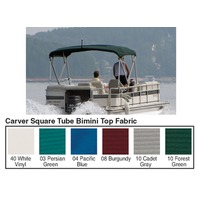 "4 BOW SQUARE TUBE PONTOON TOP FABRIC W/CUT-OUT 48""H FRAME, SUNBRELLA Pacific Blue"