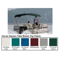 "4 BOW SQ TUBE PONTOON TOP FABRIC W/ CUT-OUT 48""H FRAME, SUNBRELLA  Forest Green"