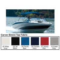 "3 BOW BIMINI TOP FABRIC W/BOOT FOR 46"" HIGH FRAME, SUNBRELLA  ACRYLIC-6' x 46"" x 61-66"", Captain Navy"