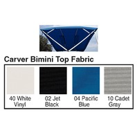"4 BOW BIMINI TOP FABRIC W/BOOT FOR 54"" HIGH FRAME, SUNBRELLA  ACRYLIC-8' x 54"" x 67-72"", Cadet Gray"
