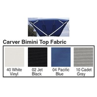 "4 BOW BIMINI TOP FABRIC W/BOOT FOR 54"" HIGH FRAME, SUNBRELLA  ACRYLIC-8' x 54"" x 91-96"", Jet Black"