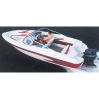 "V-HULL RUNABOUT BOAT COVER, WINDSHIELD AND HAND/BOW RAILS-19'6"" x 96"" Beam"