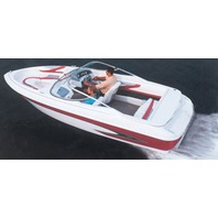 """V-HULL I/O RUNABOUT BOAT COVER, WINDSHIELD & HAND/BOW RAILS-24'6"""" x 102"""" Beam"""