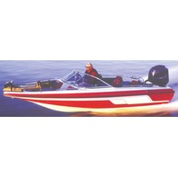 "FISH & SKI BOAT COVER, WALK-THRU WINDSHIELD-17'6"" x 90"" Beam"