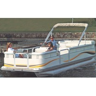 "PONTOON BOAT COVER, BIMINI TOP AND ENCLOSED DECK-22'6"" x 102"" Beam"