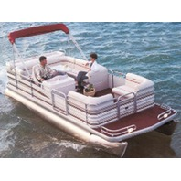 """PONTOON BOAT COVER, BIMINI TOP AND PARTIALLY ENCLOSED DECK-24'6"""" x 102"""" Beam"""
