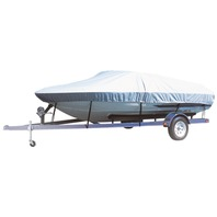 "CARVER FLEX-FIT BOAT COVER-V-Hull Low Profile Cuddy Cabin 19-22', 102"" Max. Beam"