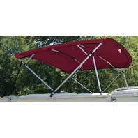REPLACEMENT CANVAS FOR SQUARE TUBE 8' PONTOON FRAMES-Burgundy Fabric 4 Bow