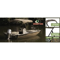 "3 BOW CAMO KNOCK-DOWN BIMINI TOP KIT W/BLACK FRAME & BOOT, 6' L x 54"" H x 67-72"" W, Mossy Oak Shadow grass"