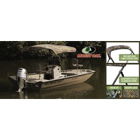 "3 BOW CAMO KNOCK-DOWN BIMINI TOP KIT W/BLACK FRAME & BOOT,  6' L x 54"" H x 79-84"" W, Mossy Oak Shadow grass"
