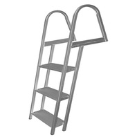 "PONTOON/DOCK LADDER WITH MOUNTING HARDWARE-3-Step, Overall Height: 49.75"" Width: 18"""