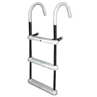 "GUNWALE HOOK LADDER, 7"" HOOK-3-Step Ladder, 7"" Hook, 40""W x 15""W"