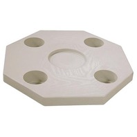 "JIF MARINE MOLDED TABLE TOP-Octagonal, Ivory, 20""W"
