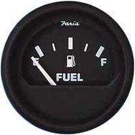 """EURO SERIES GAUGES, BLACK-2"""" Fuel Level Gauge"""