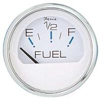 "CHESAPEAKE SERIES GAUGE, WHITE/SS-2"" Fuel Level Gauge"