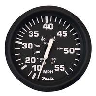 """EURO SERIES GAUGE, BLACK-4"""" Speedometer, 55 MPH"""