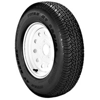 RIM & TIRE ASSEMBLY, MODULAR WHEEL, WHITE-ST175/80D13; 5-Hole Modular Rim; Load Range B