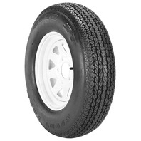RIM & TIRE ASSEMBLY, SPOKED WHEEL, WHITE-ST175/80D13; 5-Hole Spoked Rim; Load Range C