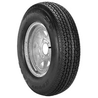 RIM & TIRE ASSEMBLY, SPOKED WHEEL, GALVANIZED-ST205/75D14; 5-Hole Spoked Rim; Load Range C