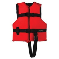 "ONYX NYLON GENERAL PURPOSE LIFE VEST-Child 20-25"", 30-50 lbs, Red/Navy"