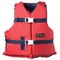 """ONYX NYLON GENERAL PURPOSE VEST-Youth 24-29"""", 50-90 lbs, Red/Navy"""