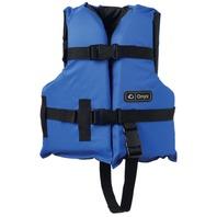 "ONYX NYLON GENERAL PURPOSE VEST-Child 20-25"", 30-50 lbs, Blue/Black Life Jacket"
