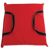 THROW CUSHION, FOAM FILLED-Red  Cushion, Nylon