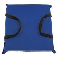 THROW CUSHION, FOAM FILLED-Blue  Cushion, Nylon
