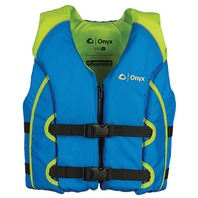 ALL-ADVENTURE YOUTH AND CHILD VEST-Youth 50-90 lbs, Blue/Lime Green