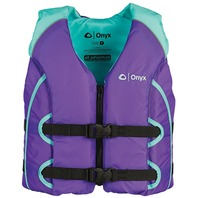 ALL-ADVENTURE YOUTH AND CHILD VEST-Youth 50-90 lbs, Purple/Aqua