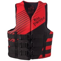"""FULL THROTTLE  ADULT AND TEEN RAPID DRY VESTS-2X/4X 50-60"""", Red (While Qtys Last)"""