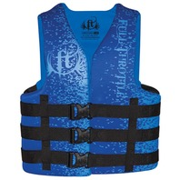 FULL THROTTLE  ADULT & TEEN DUAL SIZED RAPID DRY VESTS-Large/XL 40-52 , Blue