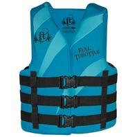 FULL THROTTLE  ADULT & TEEN DUAL SIZED RAPID DRY VESTS-Large/XL 40-52 , Aqua