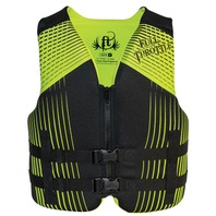 "FULL THROTTLE YOUTH RAPID DRY VEST-24-29"", 50-90 lbs, Lime/Black"