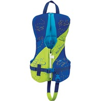 FULL THROTTLE  INFANT HINGED RAPID DRY FLEX-BACK VEST-Up to 30 lbs, Green