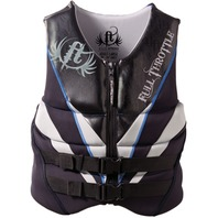 """FULL THROTTLE NEOPRENE FLEX-ZONE VEST-Large 40-44"""", Black Life Jacket"""