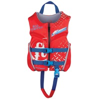 "FULL THROTTLE  CHILD HINGED RAPID DRY FLEX-BACK VEST-20-25"", 30-50 lbs, Red"