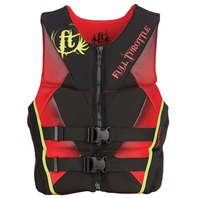 "FULL THROTTLE   MEN S HINGED RAPID DRY FLEX-BACK VEST-Medium 36-40"", Red/Black"
