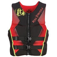 "FULL THROTTLE   MEN S HINGED RAPID DRY FLEX-BACK VEST-X-Large 44-48"", Red/Black"