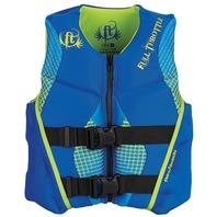 "FULL THROTTLE  YOUTH HINGED RAPID DRY FLEX-BACK VEST-24-29"", 50-90 lbs, Blue"