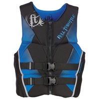 "FULL THROTTLE   MEN S HINGED RAPID DRY FLEX-BACK VEST-Medium 36-40"", Blue/Black"