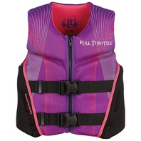 "FULL THROTTLE  YOUTH  HINGED RAPID DRY FLEX-BACK VEST-24-29"", 50-90 lbs, Purple"