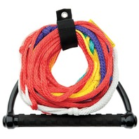 8-SECTION SKI ROPE WITH TEAM SINGLE HANDLE-8 Section Rope w/Floating Team Handle, 75'