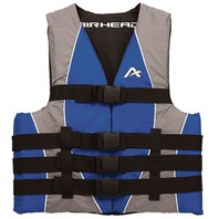 "AIRHEAD NYLON SKI VEST-Small/Med, Blue Life Jacket 32-40"" Over 90 lbs."