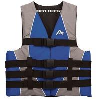 "AIRHEAD NYLON SKI VEST-Small/Med, Blue Life Jacket 32-40"" Over 90 lbs."
