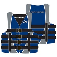 "AIRHEAD NYLON SKI VEST-Large/XL, Blue Life Jacket 52-50"" Over 90 lbs."