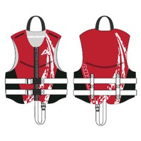 AIRHEAD  SWOOSH NEOLITE SKI VEST, Child NeoLite Vest, Red Life Jacket