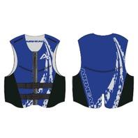 AIRHEAD SWOOSH NEOLITE SKI VEST, YOUTH-Youth NeoLite Vest, Blue Life Jacket