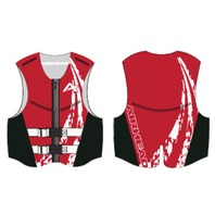 AIRHEAD SWOOSH NEOLITE SKI VEST, YOUTH-Youth NeoLite Vest, Red Life Jacket
